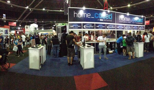 The Indie Game booth